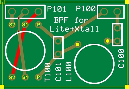 Topside of BPF Board
